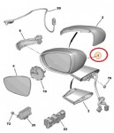 Citroen C4 Picasso Spacetourer Dış Dikiz Aynası Sol