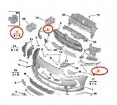 Citroen Ds5 Ön Tampon Bağlantı Ayak Takımı