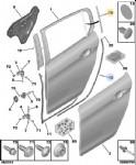 Peugeot 308 T9 Sol Arka Kelebek Cam Çıtası